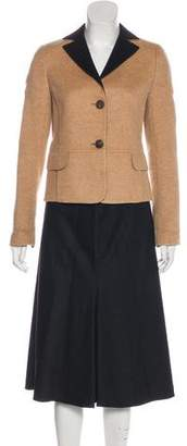 Akris Cashmere Long Sleeve Skirt Suit