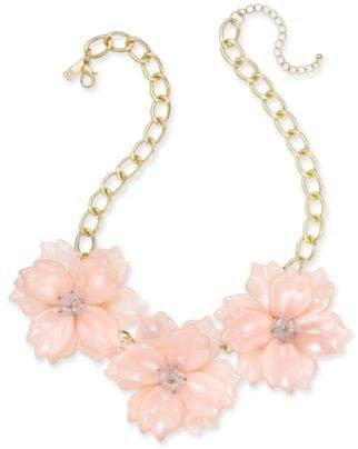 "INC International Concepts I.N.C. Gold-Tone Imitation Large Flower Statement Necklace, 19"" + 3"" extender, Created for Macy's"