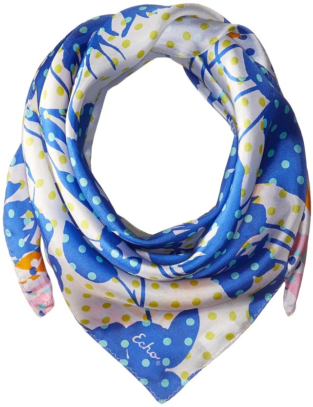 Echo Design Dots on Dots Silk Square Scarf