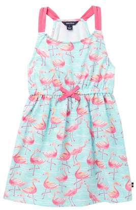 Nautica Flamingo Print Knit Dress (Toddler Girls)