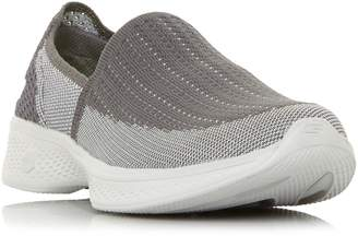 Skechers Go Walk 4 Flat Knit Slip On Shoes