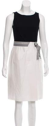 Paule Ka Sleeveless V-Neck Dress