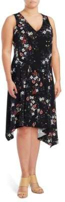 Rachel Roy Plus Printed Sleeveless Dress