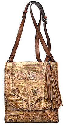 Patricia Nash Venetian Tooled Collection Brogi Tasseled Flap Cross-Body Bag $199 thestylecure.com
