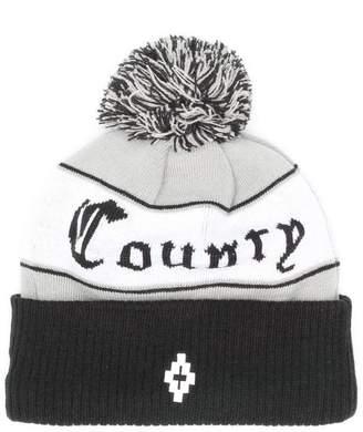 Marcelo Burlon County of Milan logo pom-pom beanie hat