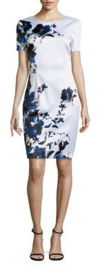 St. John Satin Floral Dress $995 thestylecure.com