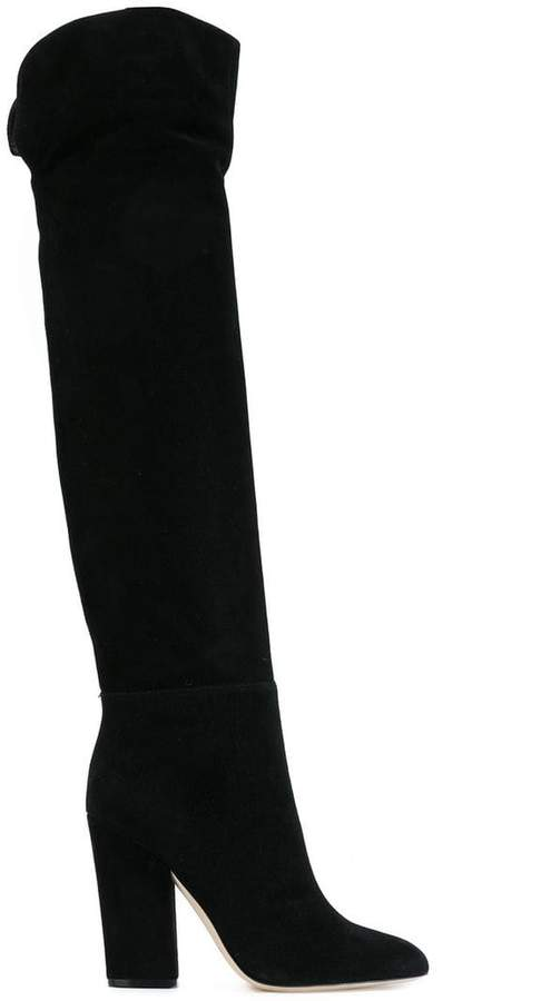 Sergio Rossi curved knee high boots
