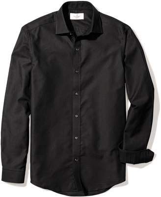 Buttoned Down Men's Fitted Spread-Collar Textured Sport Shirt