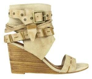 Naughty Monkey Lasalle Buckle Wedge Sandals