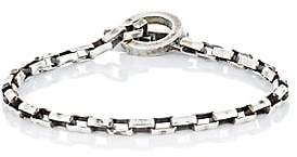 Title of Work Men's Box-Chain Bracelet-Silver
