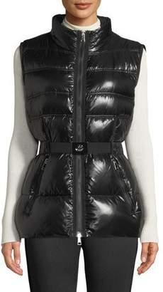 Moncler Aigrette Belted Puffer Vest