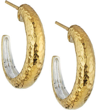Gurhan Hoopla Small Tapered Hoop Earrings, Gold