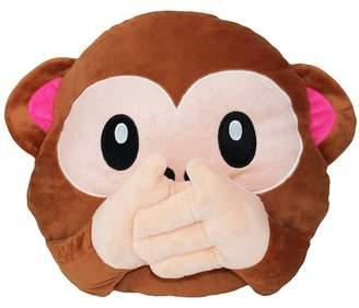 JuJu Smiling Big Adorable 3D Wise No Speak Monkey Pillow Stuffed Animal Cushion Gift Home Decor / Bedding new