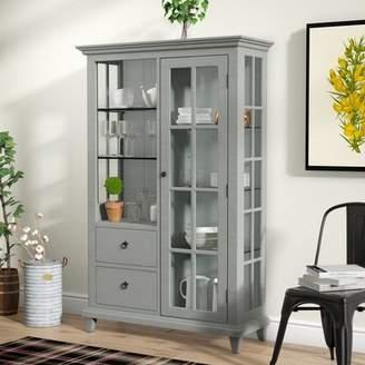 Laurèl Foundry Modern Farmhouse Lefevre Glass Shelf Curio Cabinet
