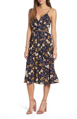 J.o.a. Floral Midi Dress