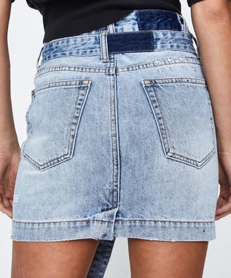 Ksubi Super X Mini Skirt Rewerked Blue