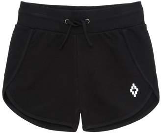 Marcelo Burlon County of Milan Logo Detail Cotton Sweat Shorts