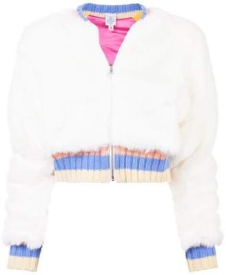 The Elder Statesman contrast-trim zipped jacket