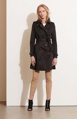 Women's Lauren Ralph Lauren Faux Leather Trim Trench Coat $240 thestylecure.com