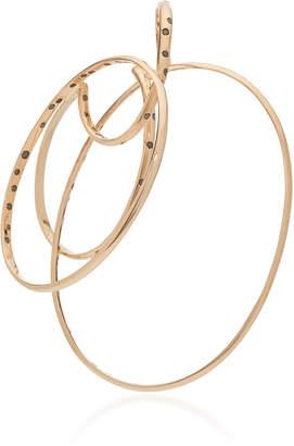 Gaelle Khouri Episteme 9K Gold And Diamond Single Hoop Earring