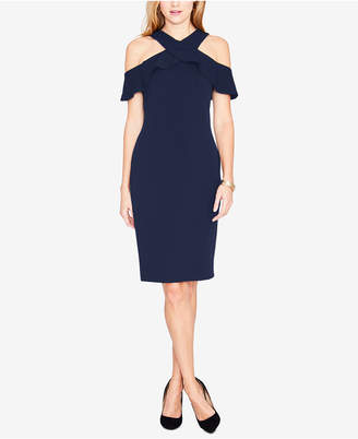 Rachel Roy Ruffled Cold-Shoulder Halter Dress