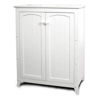 Catskill Craft Double Door Kitchen Cabinet, White