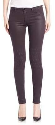 Al Rush Knee Embroidery Skinny Emma Jeans