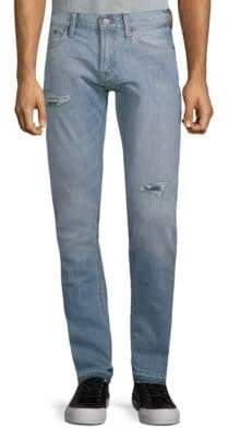 Jean Shop Jim Distressed Cotton Jeans