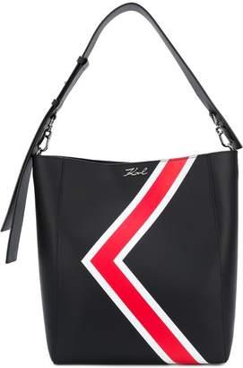 Karl Lagerfeld K stripes hobo shoulder bag