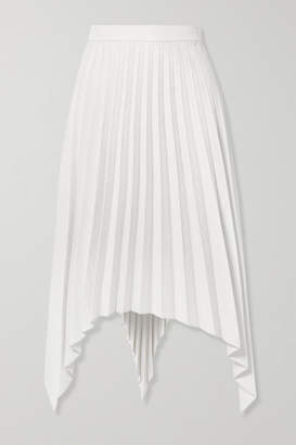 Acne Studios Ilsie Asymmetric Pleated Wool-blend Midi Skirt - Off-white