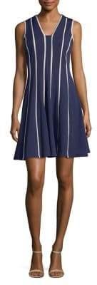 Gabby Skye Plus Sleeveless Striped Dress