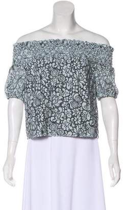 Zac Posen Lace Off-The-Shoulder Top