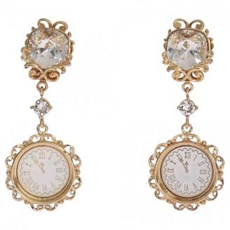 Dolce & Gabbana Gold Crystal Earrings