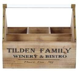 Cole & Grey Wood/Acrylic 3 Tabletop Wine Bottle Rack