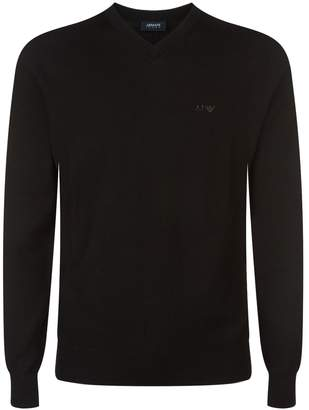 Armani Jeans Knitted V-Neck Sweater
