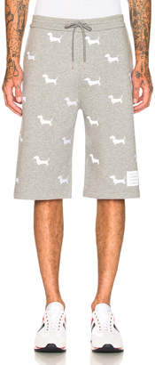 Thom Browne Hector Embroidered Classic Sweat Shorts