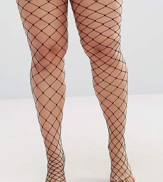 Asos DESIGN Curve oversized fishnet tights