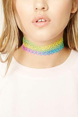 Forever 21 Striped Tattoo Choker