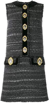 Dolce & Gabbana knitted queen-buttons dress