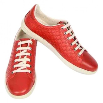 74550b5128c3 Red Leather Trainers - ShopStyle UK
