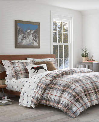 Eddie Bauer Classic Plaid Red Twin Comforter Set Bedding