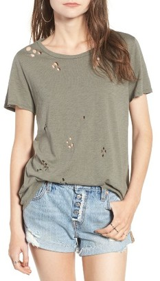 Women's Socialite Holey Tee $35 thestylecure.com