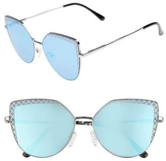 Leith 60mm Textured Lens Cat Eye Sunglasses