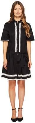 Kate Spade Lace Inset Shirtdress Women's Dress