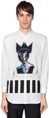 Comme des Garcons Basquiat Printed Herringbone Shirt