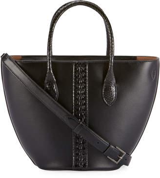 Alaia Latifa Mini Cuir Lux Tote Bag, Noir