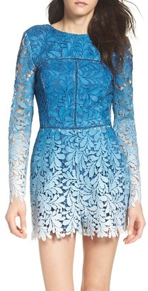 Women's Adelyn Rae Ombre Lace Romper $116 thestylecure.com