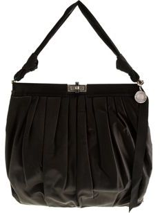 Lanvin Draped Satin Frame Bag- BLACK