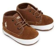 Ralph Lauren Baby Boy's Leather & Cotton Logo Sneakers