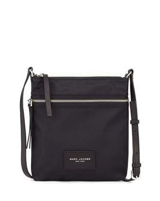 Marc Jacobs Biker North-South Nylon Crossbody Bag, Black $155 thestylecure.com